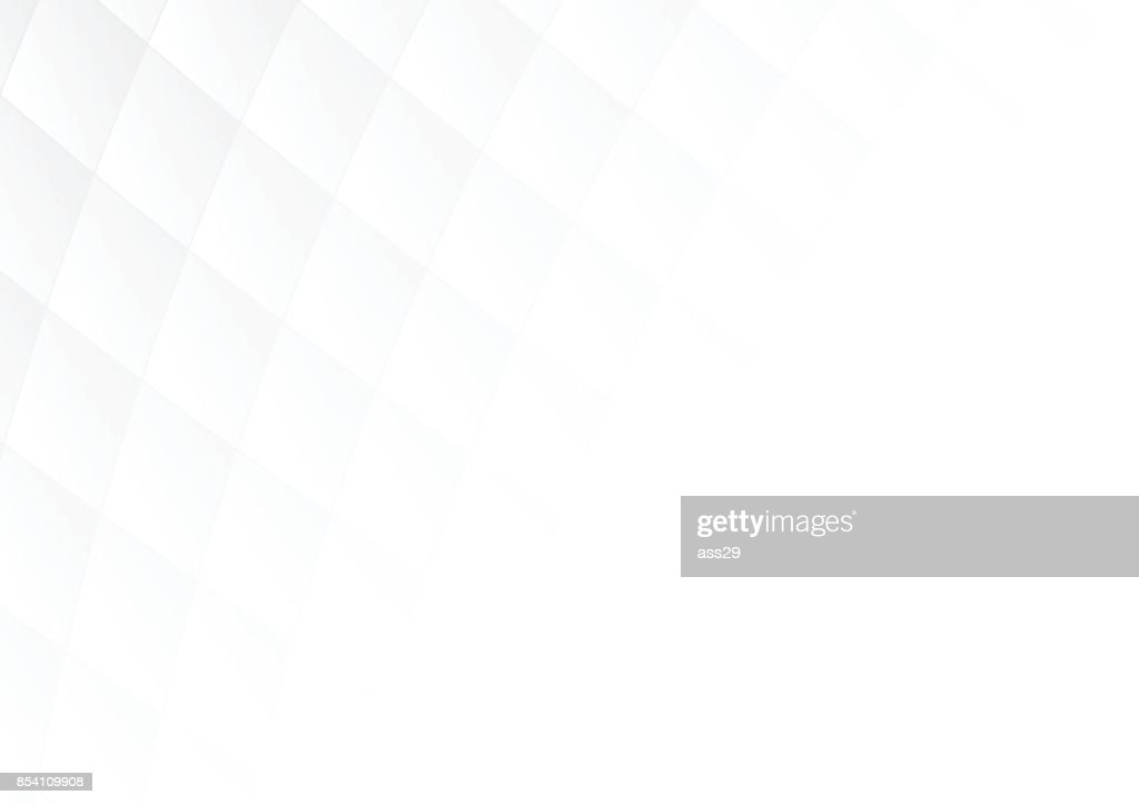 Abstract gray gradient square shapes on white background with soft light and copy space. Vector illustration