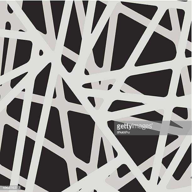 abstract gray line pattern with black background