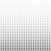 Abstract gray stars halftone pattern. Texture dotted background.