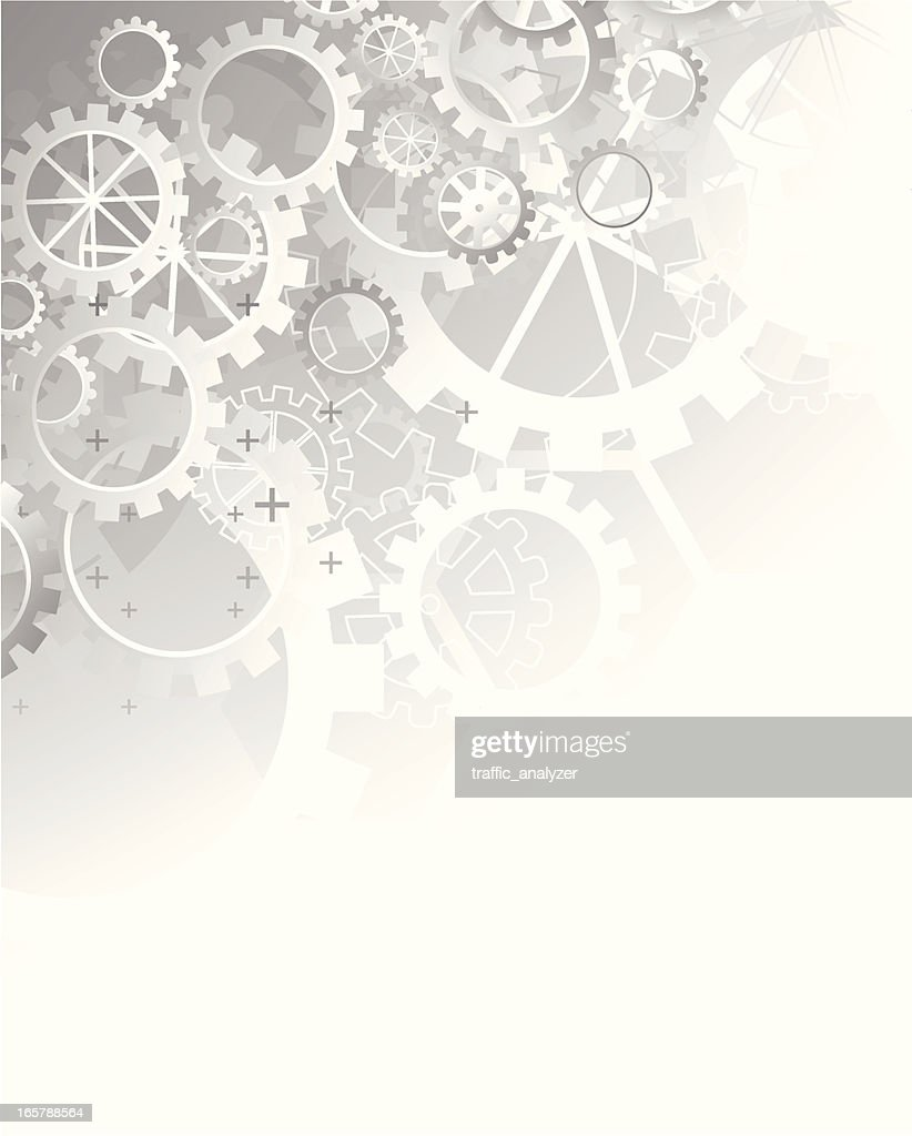 Abstract gray technical background - gears : stock illustration