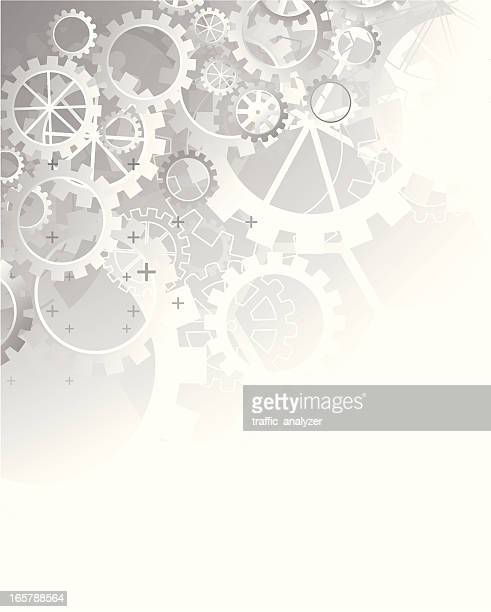 abstract gray technical background - gears - gearshift stock illustrations, clip art, cartoons, & icons