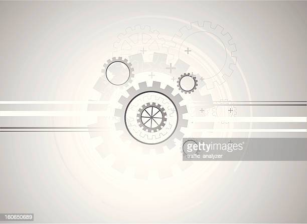 abstract gray technical background - gearshift stock illustrations, clip art, cartoons, & icons