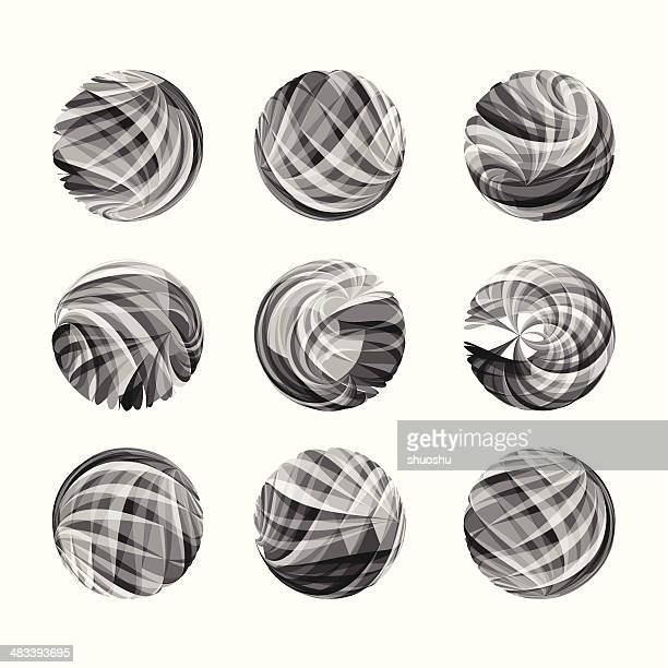 abstract gray transparency round pattern