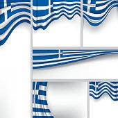 Abstract Greece Flag, Greek Vector Flag (Vector Art)
