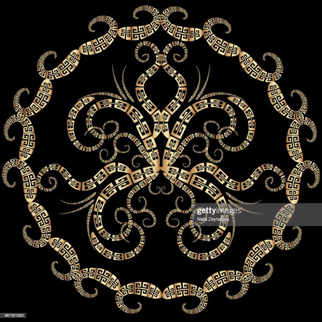 Abstract greek mandala pattern