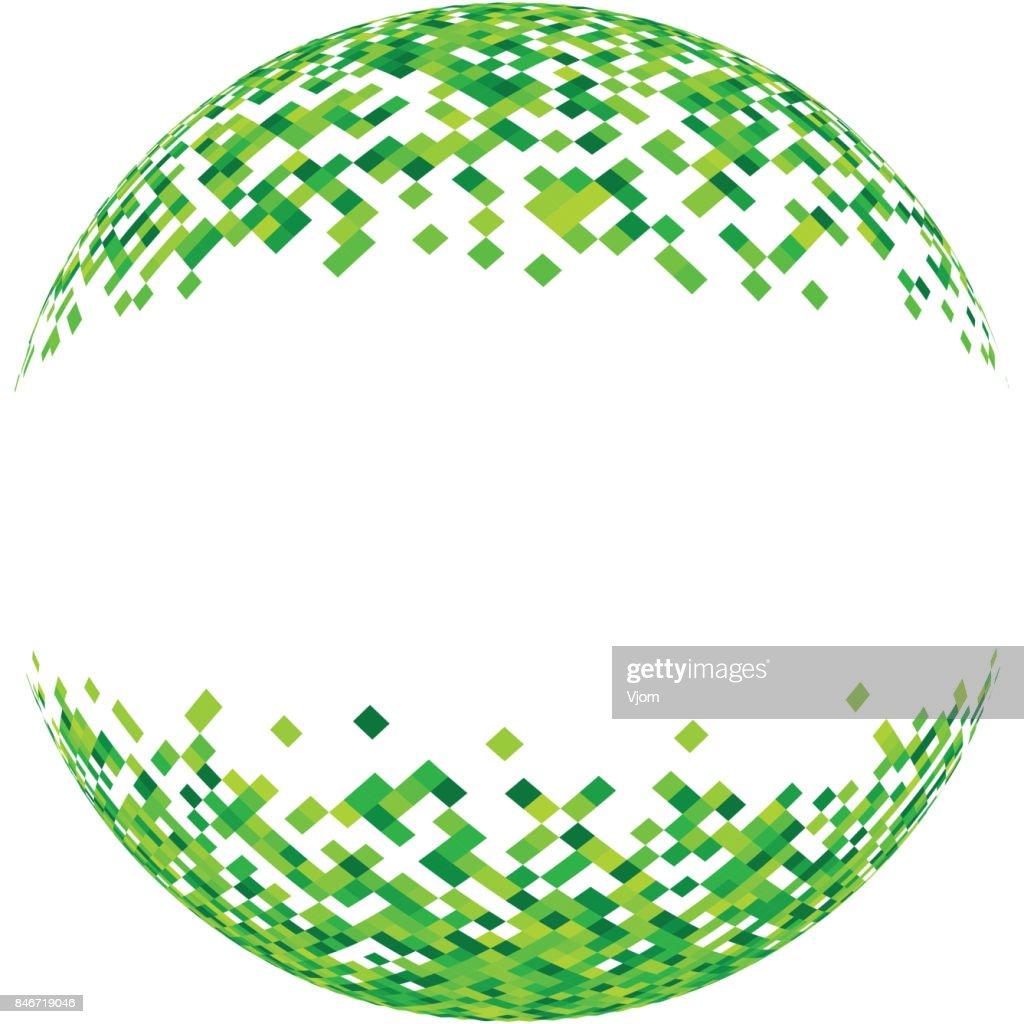 Abstract green 3d ball.
