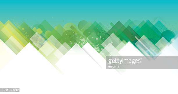 abstract green and blue background - nature stock illustrations, clip art, cartoons, & icons