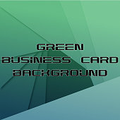 Abstract green business card background