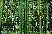 abstract green mosaic check bamboo forest pattern background
