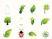 abstract green natural eco icon