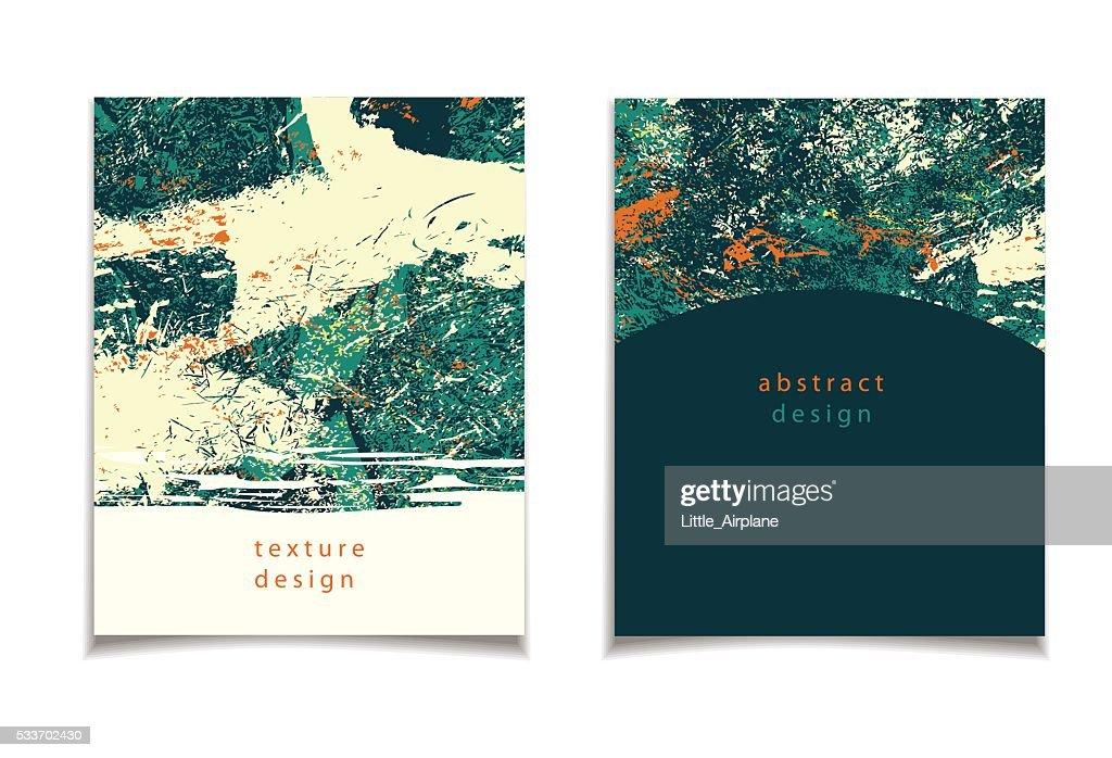 abstract green orange card