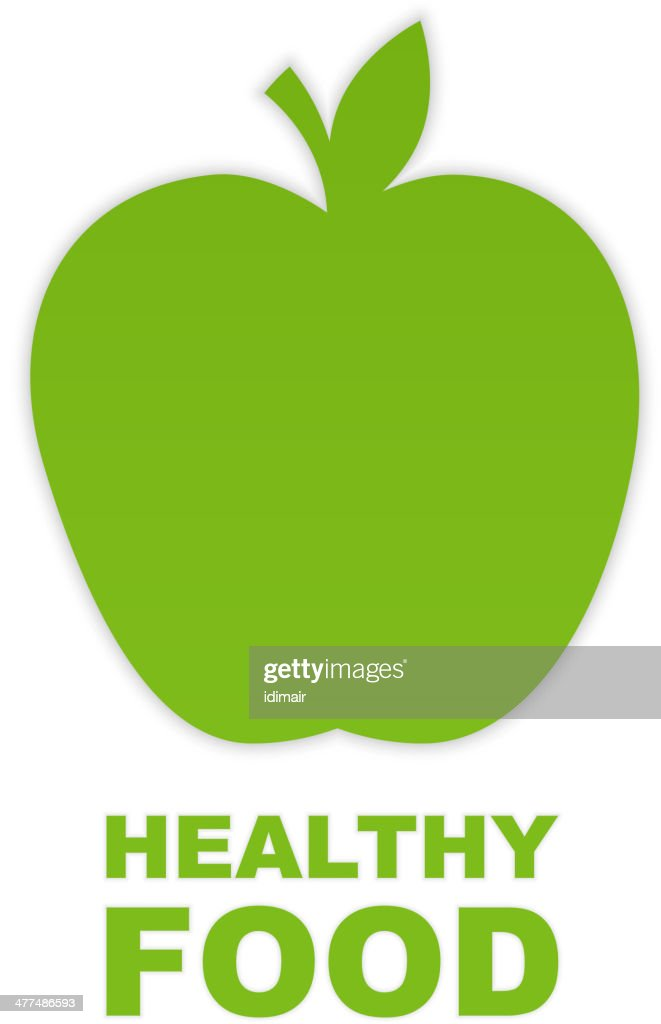 Abstract Green Paper Apple. Vector