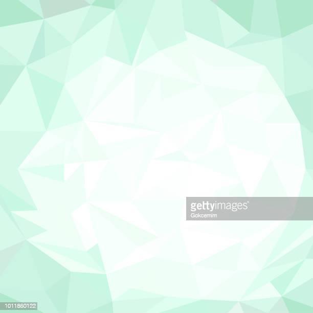 抽象的な緑多角形三角形パターン背景 - ターコイズカラーの背景点のイラスト素材/クリップアート素材/マンガ素材/アイコン素材