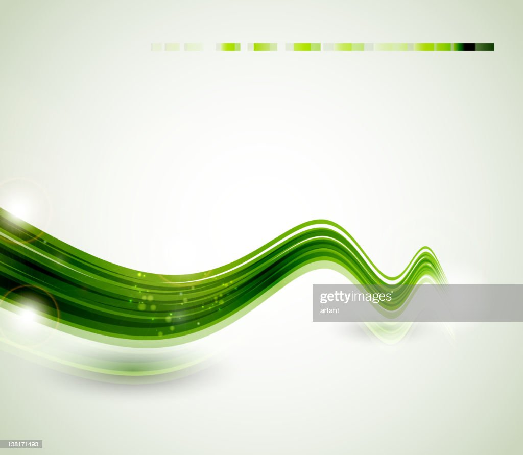 abstract  green  swift line