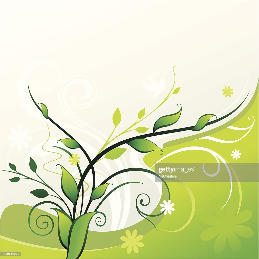 Abstract green swirls background