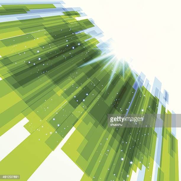 abstract green transparency technology pattern background