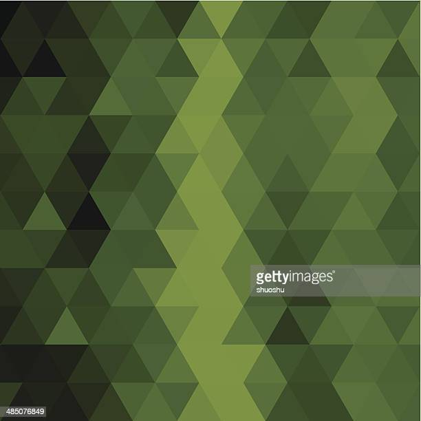 abstract green triangle pattern background