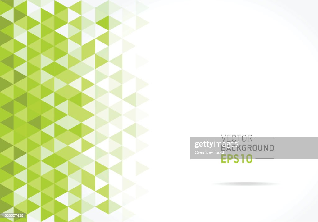 Abstract Green triangular pattern