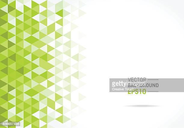 abstract green triangular pattern - green stock illustrations, clip art, cartoons, & icons