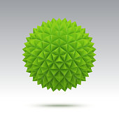 Abstract green vector sphere with triangular faces