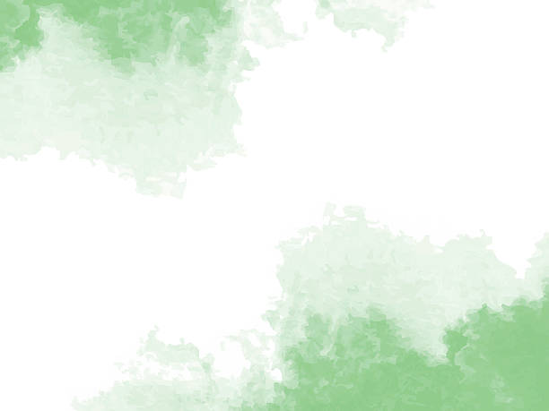abstract green watercolor background - pastel stock illustrations