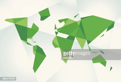 Abstract green world map vector art getty images gumiabroncs Image collections