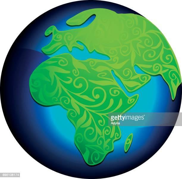 Abstracte groene wereld