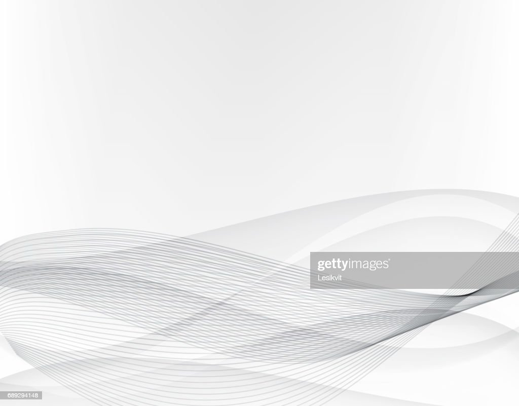 Abstract grey background.Wavy lines and gray abstract waves.Vector EPS10