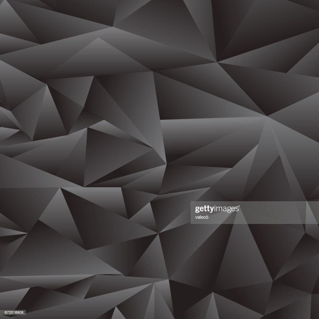 Abstract Grey Polygonal Pattern
