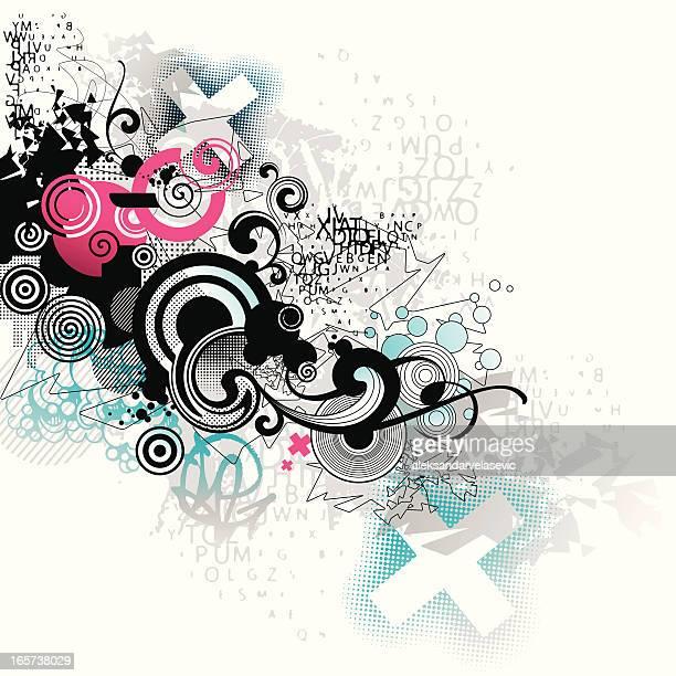 abstrakte grunge-flow - streetart stock-grafiken, -clipart, -cartoons und -symbole