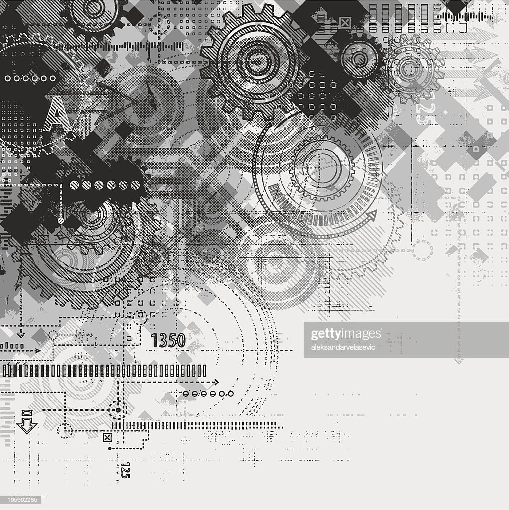 Abstract Grunge Technology Background