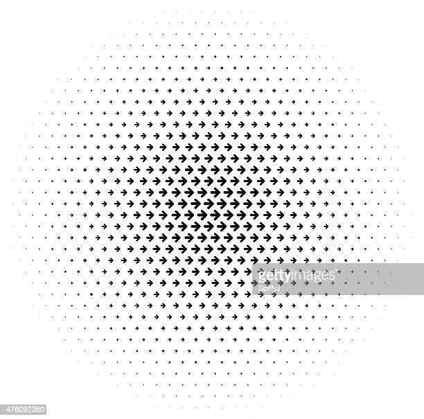 Abstract Halftone Arrows Background