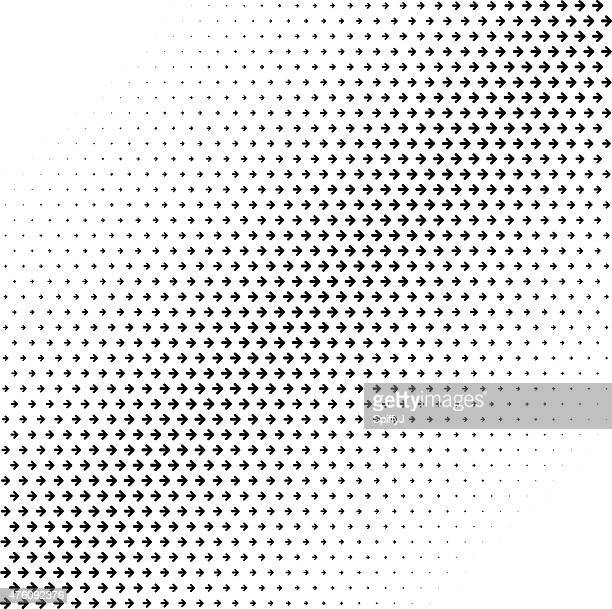 abstract halftone arrows background - the way forward stock illustrations