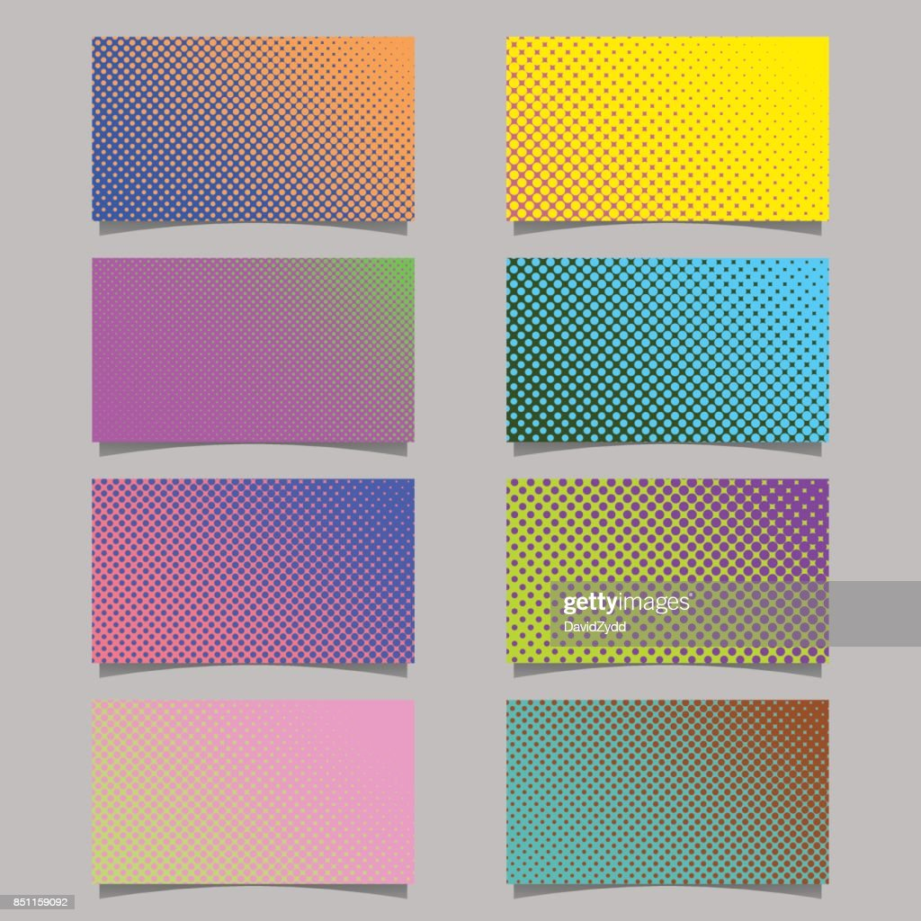 Abstract Halftone Dot Pattern Business Card Background Template