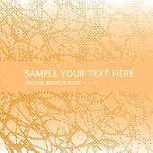 Abstract halftone dots background. Vector grunge pattern.