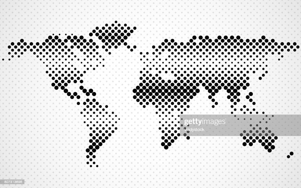 Abstract halftone world map vector art getty images abstract halftone world map vector art gumiabroncs Image collections