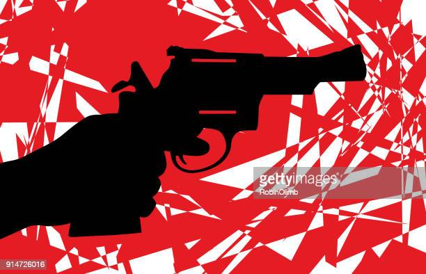 abstract handgun icon - handgun stock illustrations