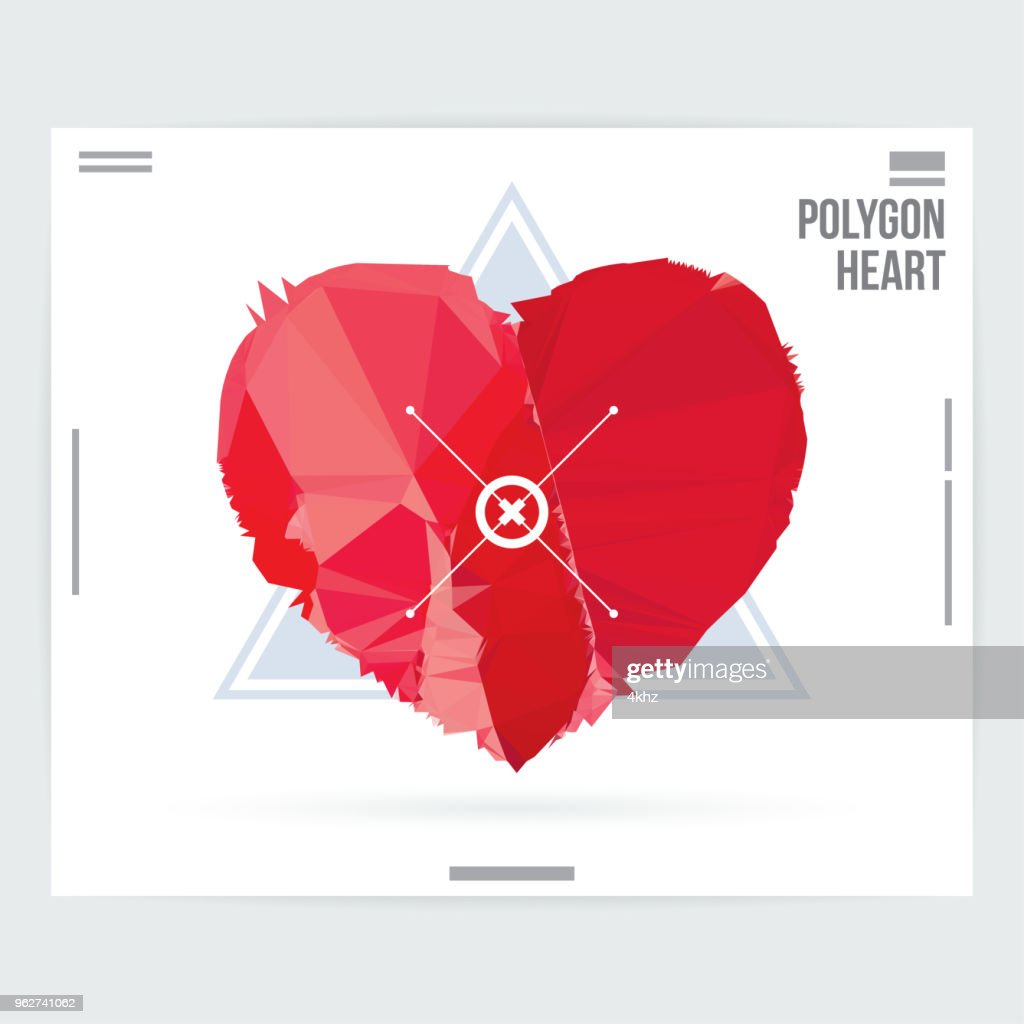 Abstract Heart Shape Graphic Design Poster Layout Template Vector