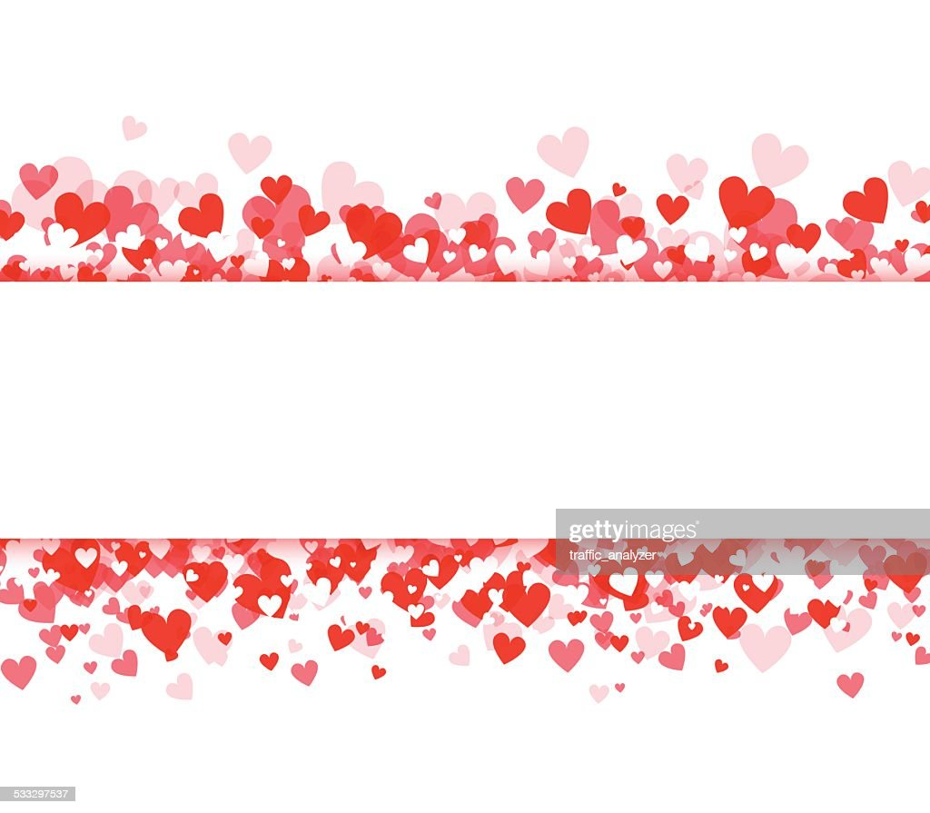 Abstract hearts background