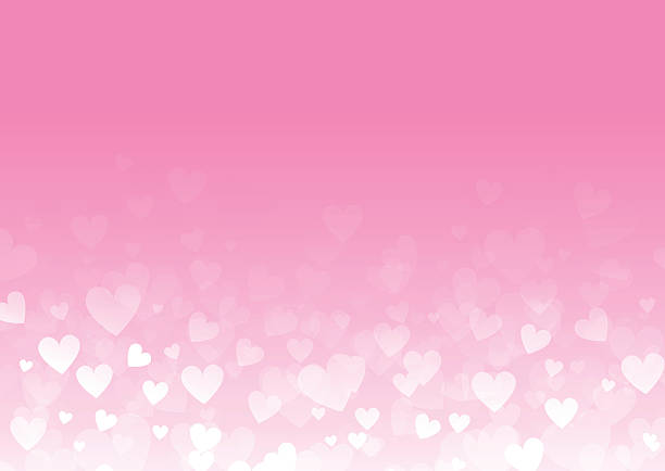 abstract hearts background - pink stock illustrations