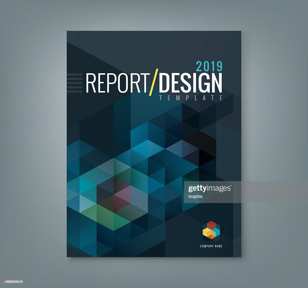 Abstract hexagon cube pattern background design for report book cover