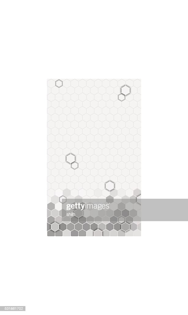 Abstract hexagons pattern background  for mobile UI.