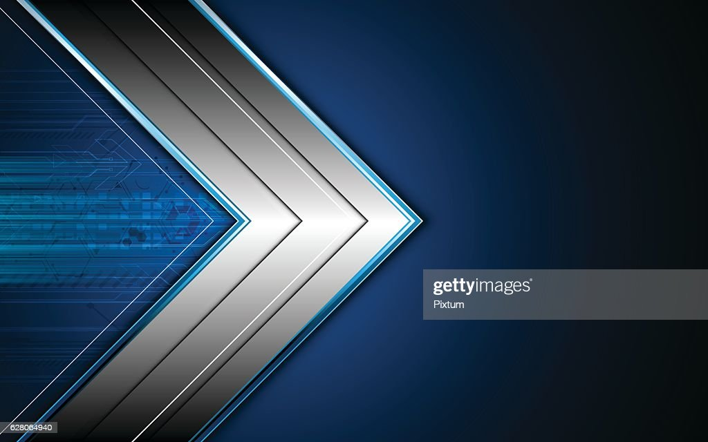 abstract hi tech metallic arrow frame layout design concept background