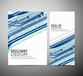 Abstract hi-tech brochure business design or roll up.