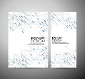 abstract hi-tech brochure business design template or roll up.