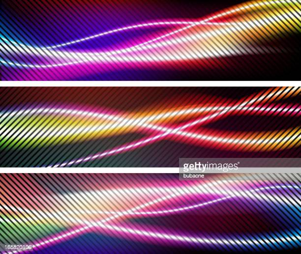 abstract holiday wave lights background - concepts & topics stock illustrations