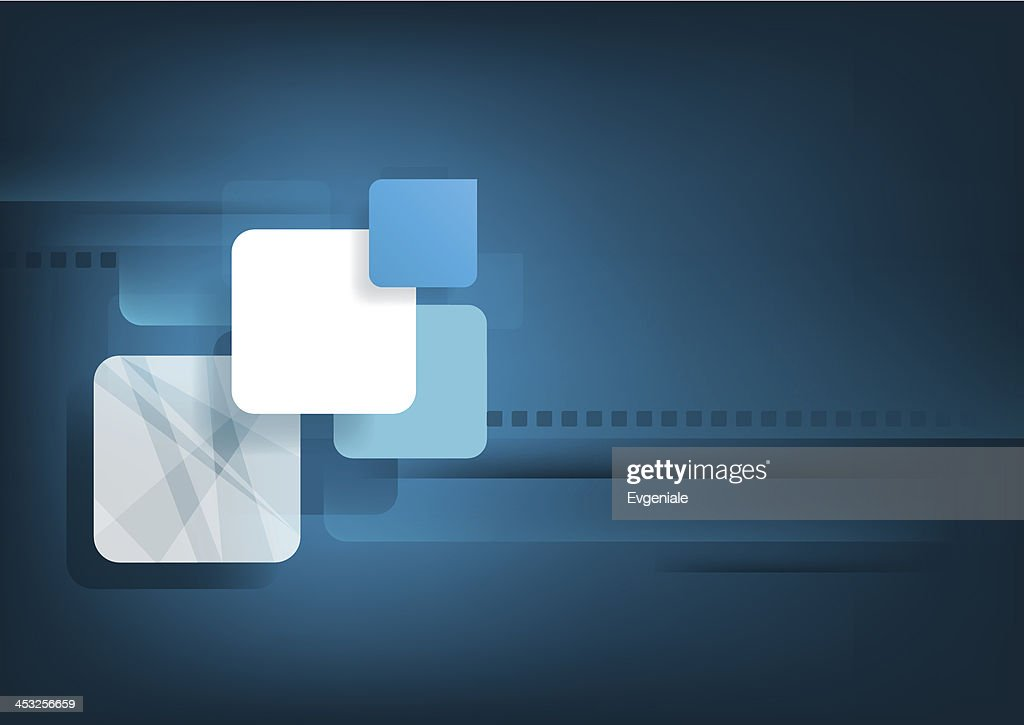 Abstract horizontal blue background with graphic elements.