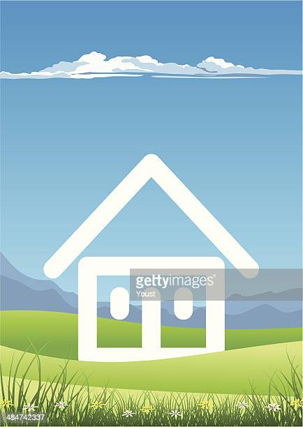 Abstract House in a Landscape
