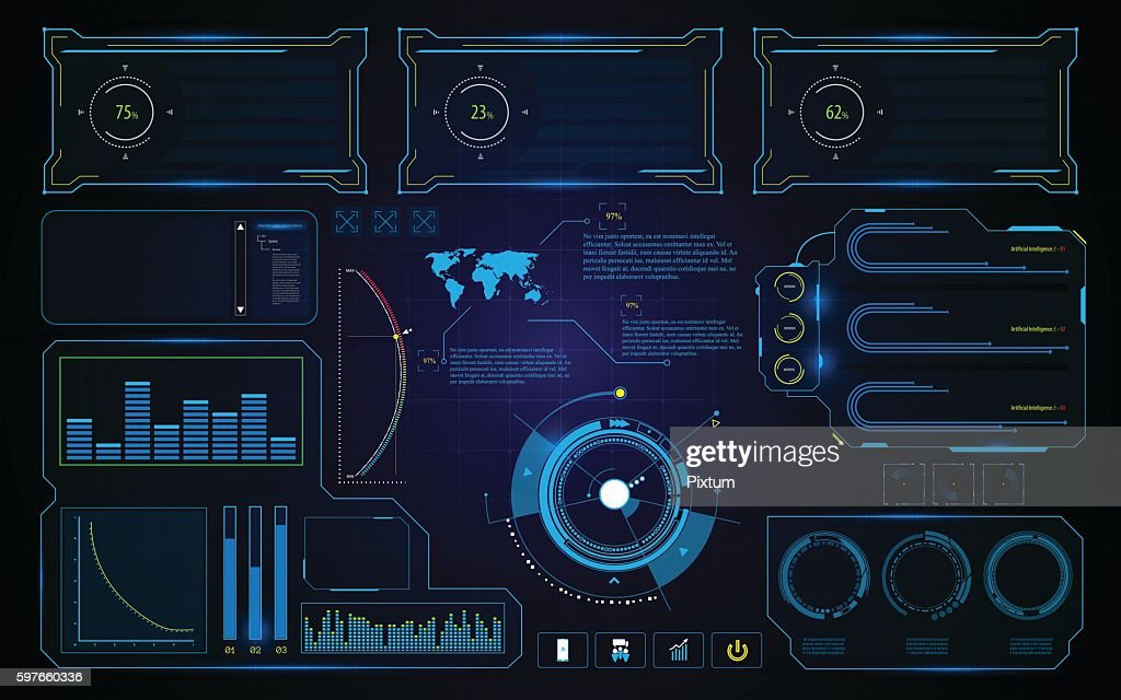 abstract HUD UI Interface screen technology future futuristic concept background