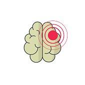 Abstract human brain injury stroke cartoon vector illustration